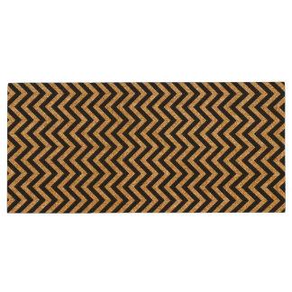 Black Gold Glitter Zigzag Stripes Chevron Pattern Wood USB Flash Drive