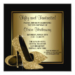 Black Gold High Heels Womans Birthday Party