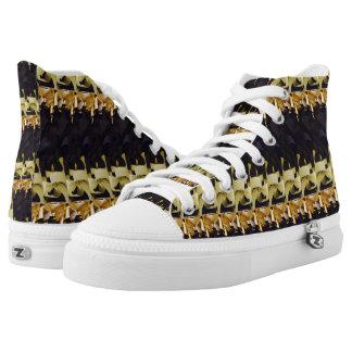 Black & Gold High Tops