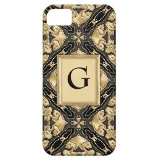 Black & Gold Lace iPhone 5 Case