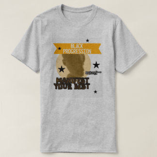 Black/Gold Manifest your Best tee