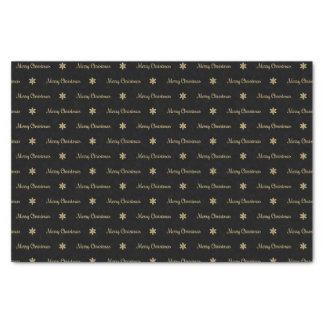 Black & Gold  Merry Christmas Tissue Paper