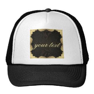 black,gold,modern,pattern,chic,elegant,trendy,goth cap