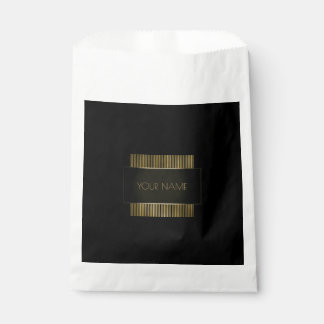 Black Gold Name Branding Minimal Conceptual Favour Bag