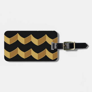 Black Gold Personalized Luggage Tag