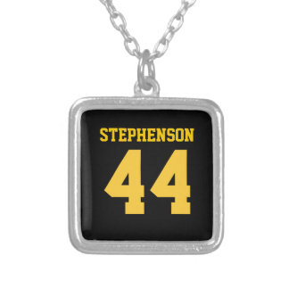 Black Gold Personalized Sports Name Number Custom Jewelry