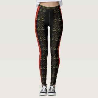 BLACK GOLD RED LEGGINGS