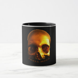 Black Gold Skull Mind Mug