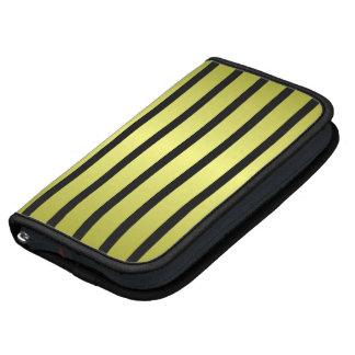Black Gold Stripe Folio Smartphone Planner