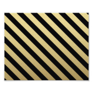 Black Gold Stripe Pattern Print Design