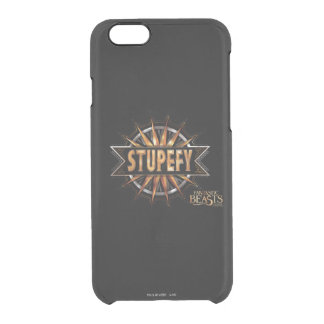 Black & Gold Stupefy Spell Graphic Clear iPhone 6/6S Case
