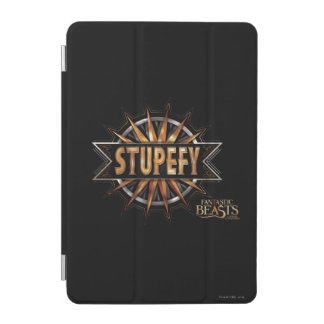Black & Gold Stupefy Spell Graphic iPad Mini Cover