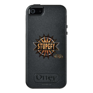 Black & Gold Stupefy Spell Graphic OtterBox iPhone 5/5s/SE Case