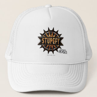 Black & Gold Stupefy Spell Graphic Trucker Hat