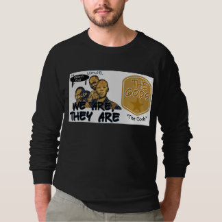 black/gold The Gods print Sweatshirt