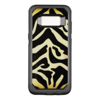 Black Gold Tiger Pattern Design OtterBox Commuter Samsung Galaxy S8 Case