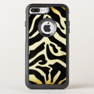 Black Gold Tiger Pattern Print Design OtterBox Commuter iPhone 8 Plus/7 Plus Case