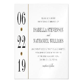 Black & Gold Typography | Custom Wedding Magnetic Card