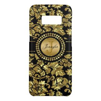 Black & Gold Vintage Damasks Monogram Case-Mate Samsung Galaxy S8 Case