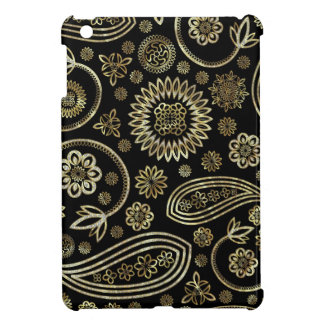 Black & Gold Vintage Paisley Design iPad Mini Cases