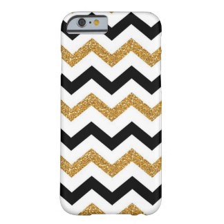 Black, Gold & White Barely There iPhone 6 Case