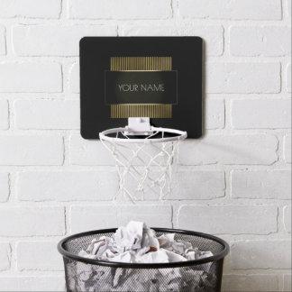 Black Gold White Conceptual Minimal Geometry Mini Basketball Hoop