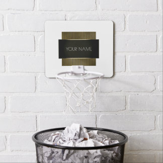 Black Gold White Conceptual Minimal Office Lux Mini Basketball Hoop