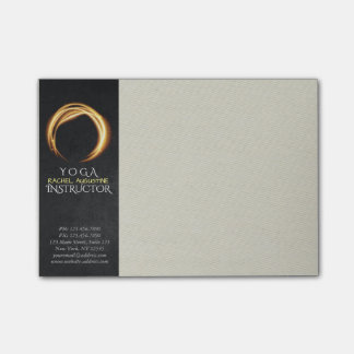 Black & Gold YOGA Studio Massage Therapy ZEN Sign Post-it Notes