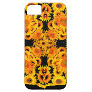 Black-Golden Sunflowers Patterned GIFTS Case For The iPhone 5