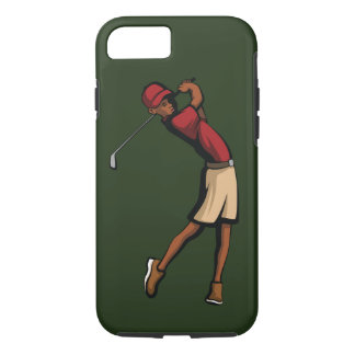 Black Golfer Boy iPhone 8/7 Case
