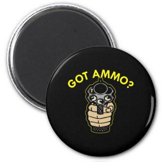 Black Got Ammo Pistol 6 Cm Round Magnet