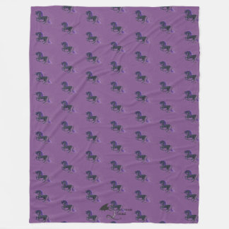 Black Goth and Purple Unicorn Blanket