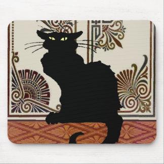 Black Gothic Cat Style Design, Chat Noir Mouse Pad