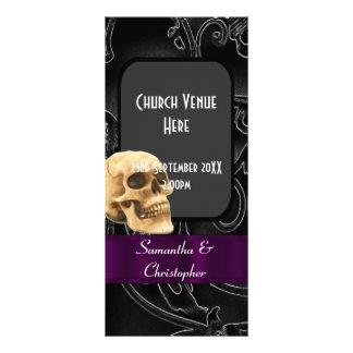 Black gothic wedding program customised rack card