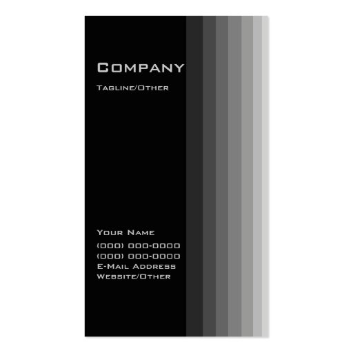 Black Gradient Business Card Templates