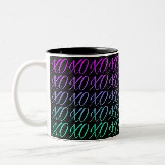 Black Gradient Hugs & Kisses Coffee Mug