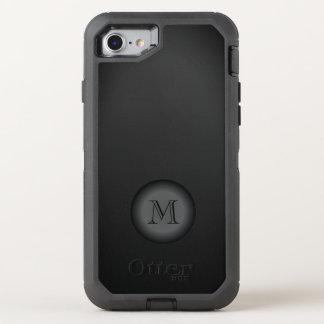 Black Gradient Monogram Minimalistic OtterBox Defender iPhone 8/7 Case