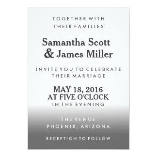 Black Gradient Simple & Classy | Wedding Invite