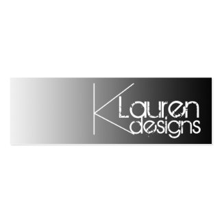 black gradient skinny business card
