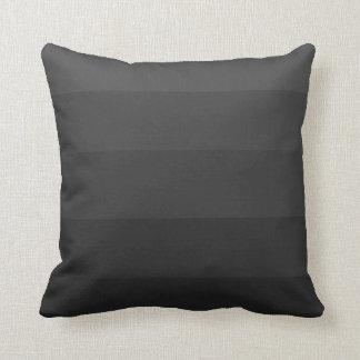Black Gradient Strip Plush Pillow