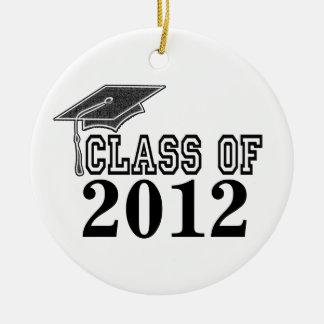 Black Graduating Class of 2012 Ornament