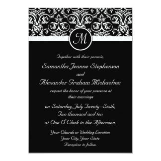 Black Grand Insignia Wedding Invitations