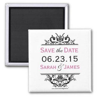 Black & Grape Save the Date Magnet