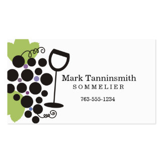 black grapes wine glass sommelier wine tasting pack of standard business cards