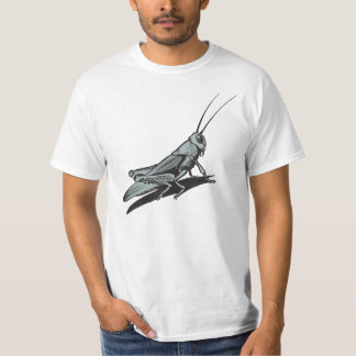 Black Grasshopper  Etching Drawing T-Shirt