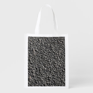 BLACK GRAVEL REUSABLE GROCERY BAG