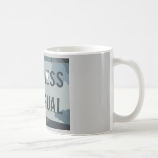 Black Gray Business As Usual Sign Mugs