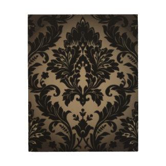 Black & Gray Damask Pattern Print