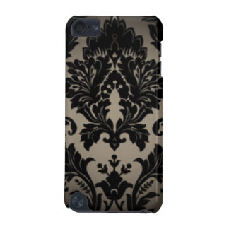 Black & Gray Damask Pattern Print iPod Touch 5G Case
