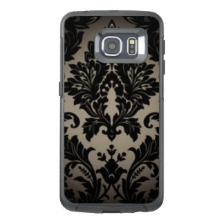 Black & Gray Damask Pattern Print OtterBox Samsung Galaxy S6 Edge Case